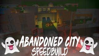 Abandoned City Speedbuild| Roblox Bloxburg