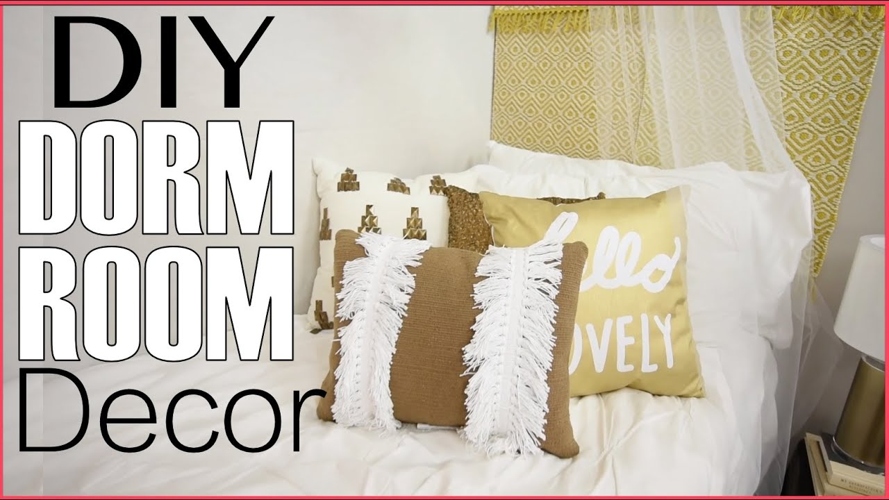 Back To School | Dorm Room Decorating | DIY Headboard + Decor   YouTube