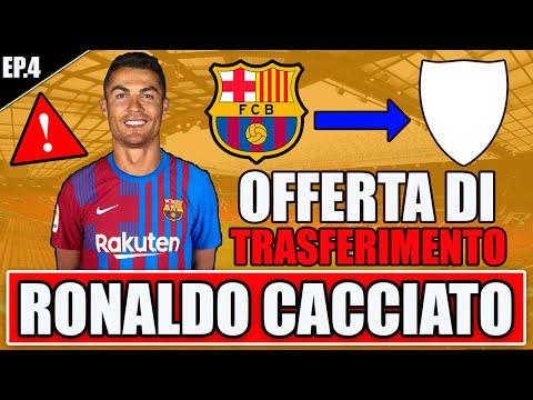 😱 OFFERTA CLAMOROSA!! RONALDO FISCHIATO E CACCIATO DA BARCELLONA!! FIFA 22 CARRIERA GIOCATORE #4