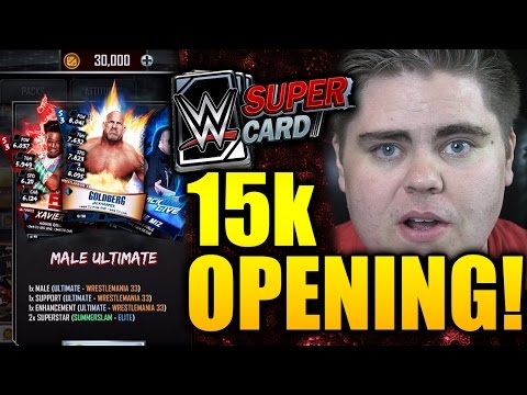 15,000 Credit Pack Opening! Ft. Male Ultimate, Male Elite, Female Elite PACKS! (WWE SUPERCARD)