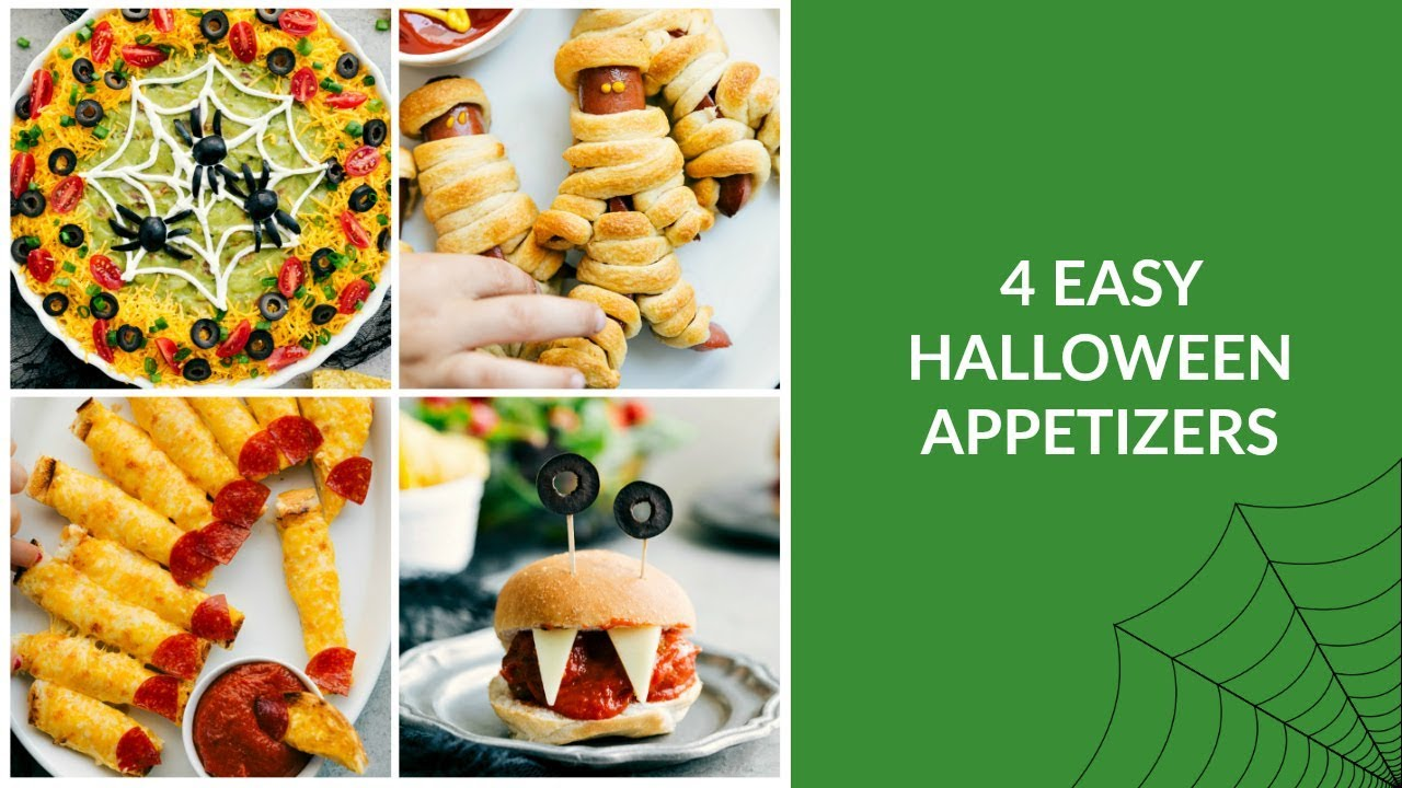 4 easy halloween appetizers - youtube
