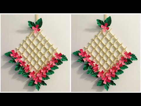 diy-wall-hanging-||-easy-wall-decor-||-paper-wall-hanging-idea-||-paper-flower-craft-❤️