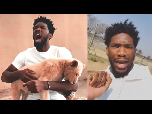 joel-embiid-bitten-by-a-lion-in-africa-2018-nba-africa-game