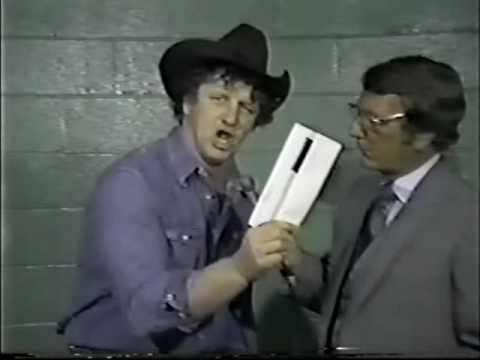 Jerry Lawler No-Sells Terry Funk's Taped Promo - Re: Empty Arena Match (April 1981)