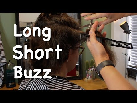 Long hair to short and then a buzzcut! (Incl ASMR)