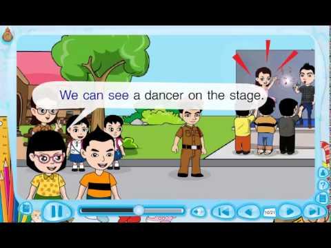 สื่อการเรียนรู้แท็บเล็ต ป.2 วิชา ภาษาอังกฤษ เรื่อง We can see students at the School