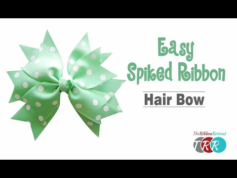 How to Make an Easy Spiked Ribbon Hair Bow - TheRibbonRetreat.com