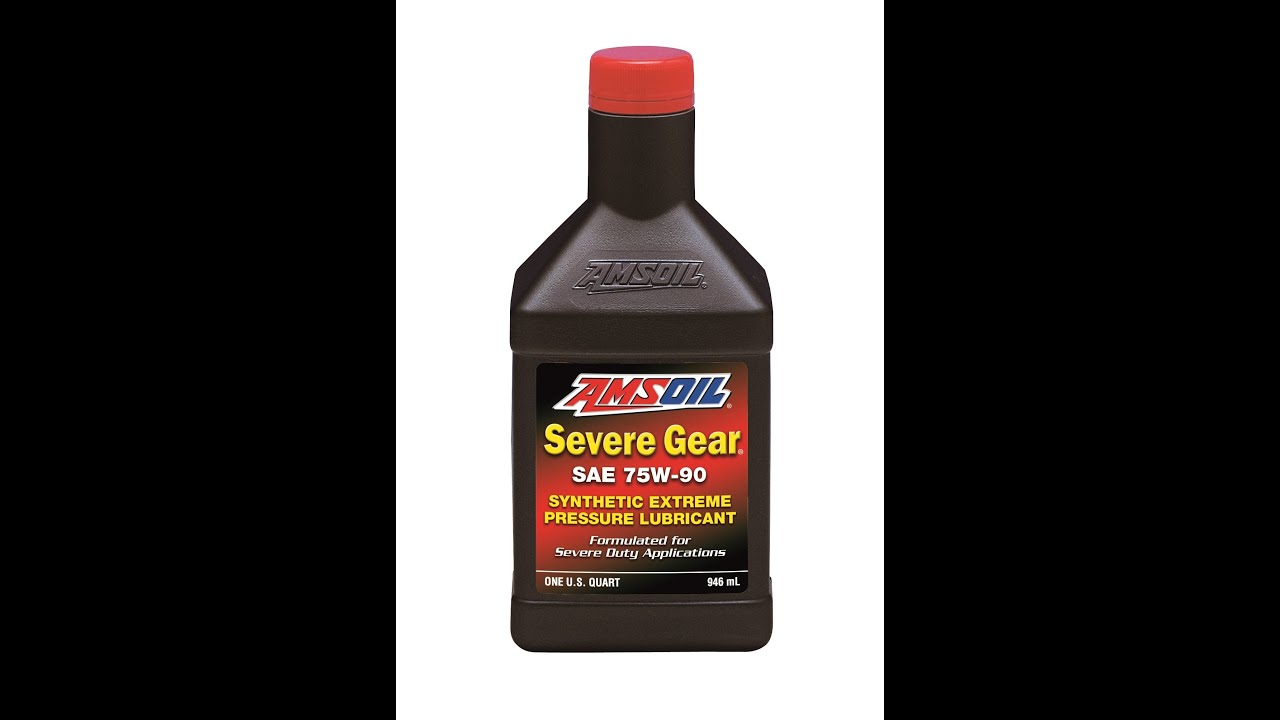 Amsoil Severe Gear 75w 90 >> Amsoil Sv Severe Gear Synthetic Ep Gear Lubricants Youtube