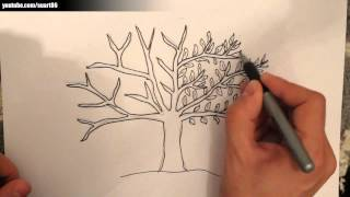 Como dibujar un arbol