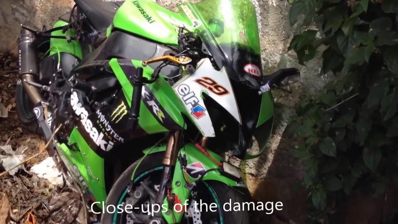 Kawasaki Ninja Zx10r Crash Superbike Wheelie Fail In India Youtube