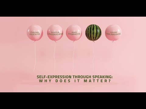 Self-expression through speaking: why does it matter?