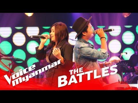 Khaing Myae Thit Sar vs. Lito: မိုးစက္ပြင့္ေလး - The Battles - The Voice Myanmar 2018