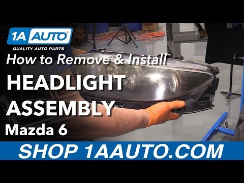 How to Replace Headlight Assembly 06-08 Mazda 6