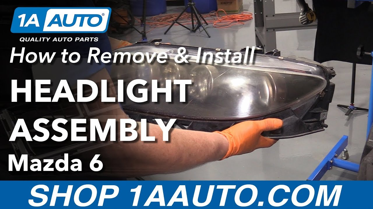 hight resolution of how to replace headlight assembly 06 08 mazda 6