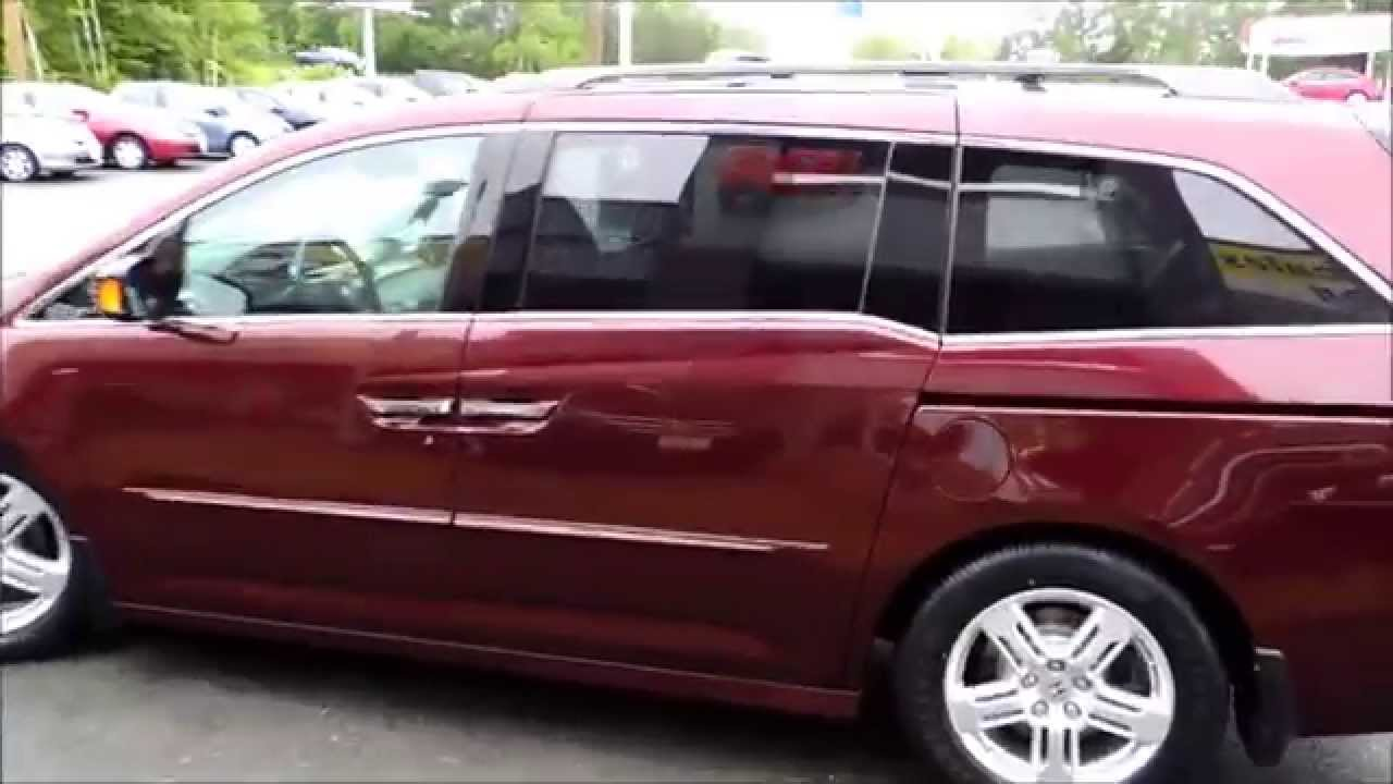 15541a Honda Odyssey Touring 4dr Aut Red Honda Certified