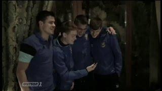 Как футболисты прошли обряд посвящения в сборную Украины