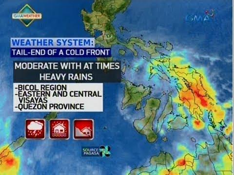 24 Oras: Ilang lugar sa Bicol, Eastern at Central Visayas at Quezon Province, uulanin