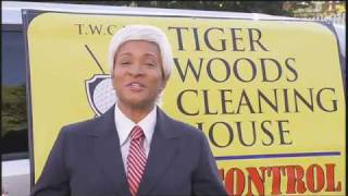 Tiger Woods Cleaning House - The Wanda Sykes Show