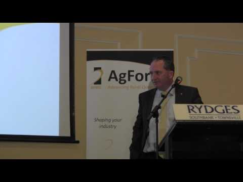 AgForce State Conference 2013: Production, Partnerships and Profitability:  Barnaby Joyce