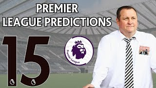 Premier League Score Predictions Week 15 2019/20