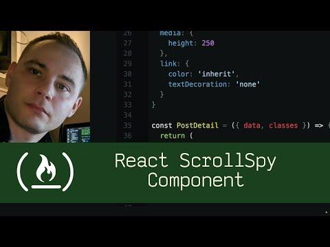 React ScrollSpy Component (P5D59) - Live Coding with Jesse