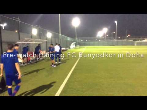 Pre-match training FC Bunyodkor in Doha