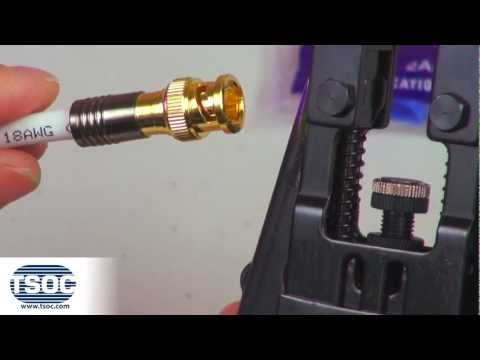 How to Terminate an RG6 BNC-TYPE Coaxial Compression Connector - The TSOC™ Minute (ep. 3)