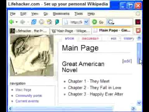 Add And Edit Pages With Media Wiki