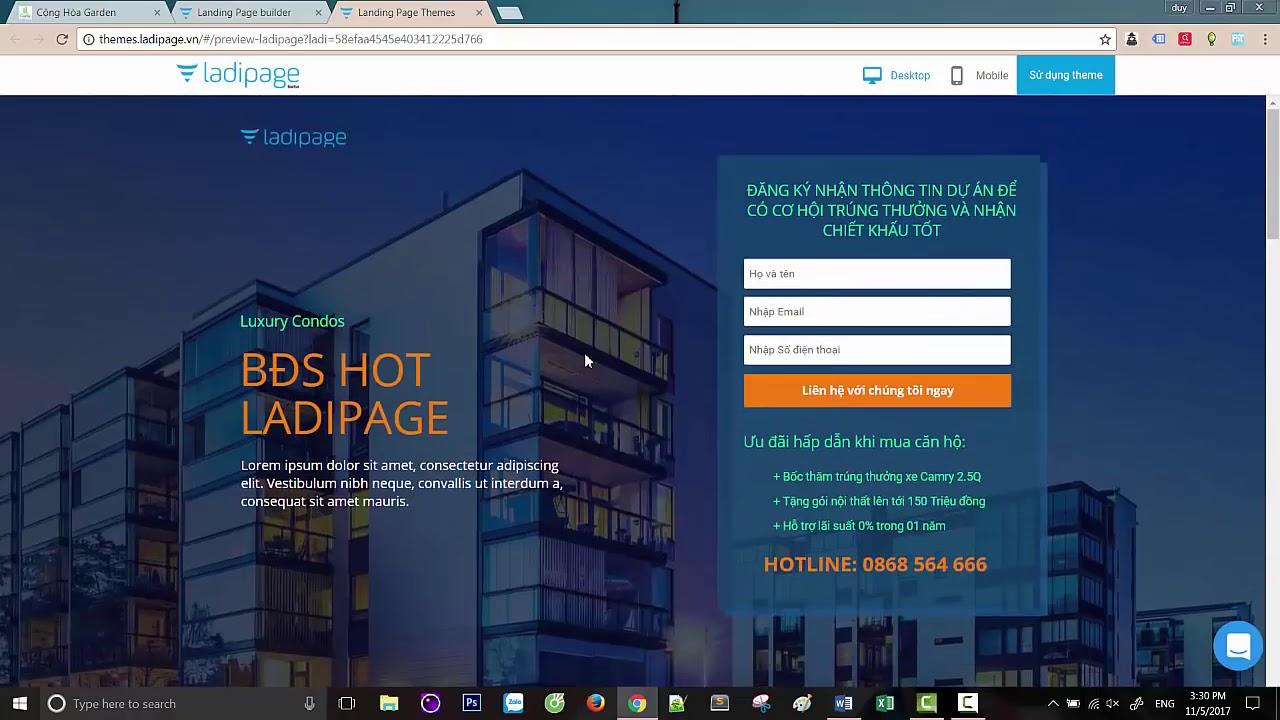 Hướng dẫn tạo trang web bán hàng nhanh chóng đơn giản nhất với Landing Page