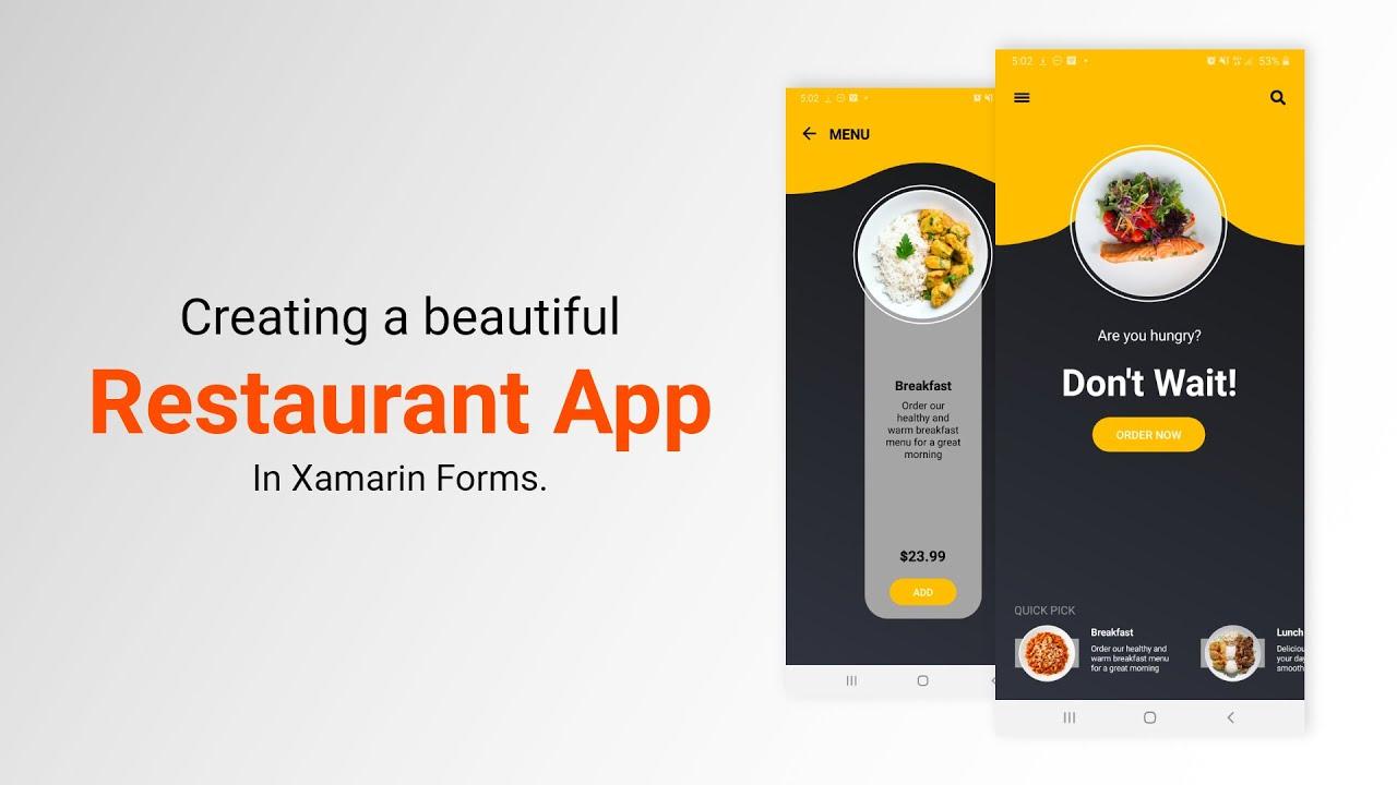 Beautiful Restaurant App in Xamarin Forms   Mobile App Development