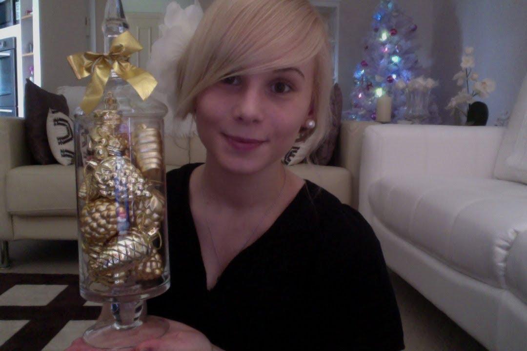 diy christmas decoration vasecandy jar youtube
