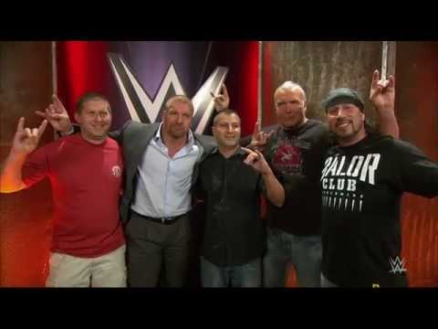 "The Kliq surprises the WWE fans who recorded the MSG ""Curtain Call"": Aug. 28, 2015"