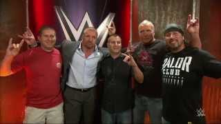 "The Kliq surprises the WWE fans who recorded the MSG ""Curtain Call"": WWE.com Exclusive, Aug. 28, 201"