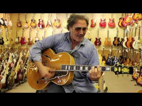 The hilarious Frank Stallone playing 2 Stromberg Master 400 Guitars