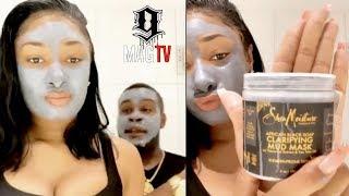 Megan Thee Stallion & Jonathan Apply Mask On Each Other! 🎭