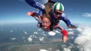 С парашютом в первый раз!