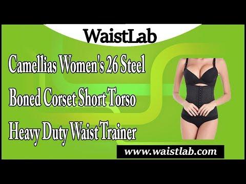 Camellias 26 Steel Boned Corset Short Torso Heavy Duty Waist Training Cincher