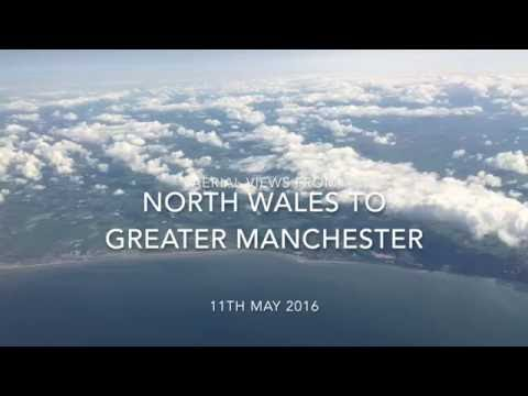 Aerial Views from North Wales to Greater Manchester, England - 11th May, 2016