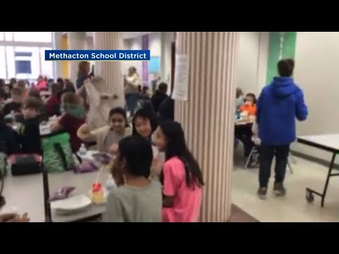 Father In Navy Surprises Son At Skyview Upper Elementary School