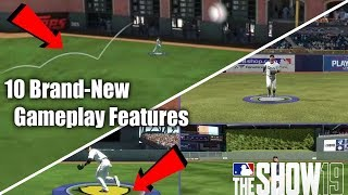 10 Brand New Gameplay Features In MLB The Show 19! Major Changes To Hitting And Defense!