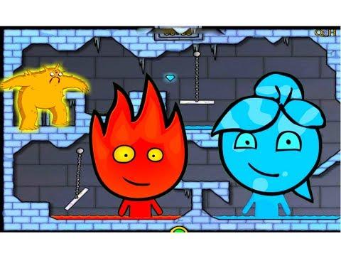 ПРИКЛЮЧЕНИЯ ОГОНЬ и ВОДА в Ледяном храме #2  Развлекательное видео для детей  Игровой мультик