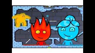 видео Огонь и Вода в Ледяном Храме игра на двоих. Игры Огонь и Вода на двоих на 2igroka.com играть онлайн