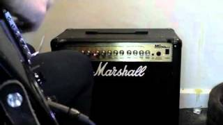 Demonstration of Marshall MG50 DFX Amp