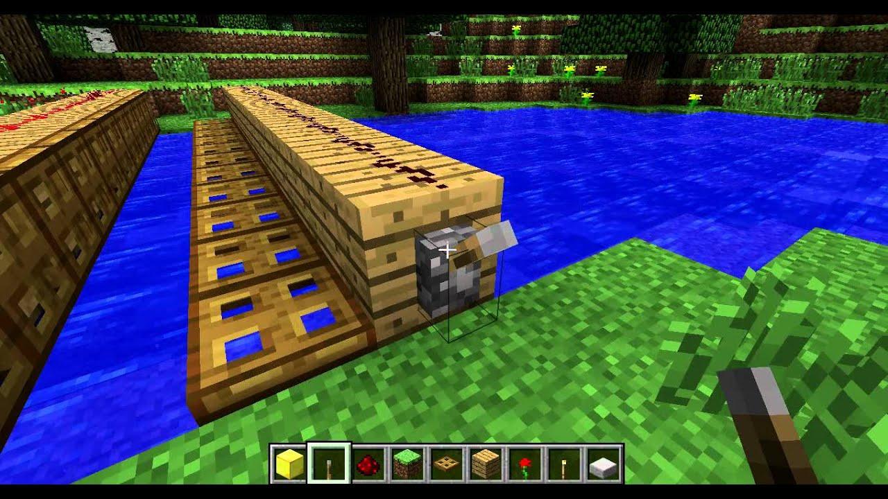как построить мост в minecraft
