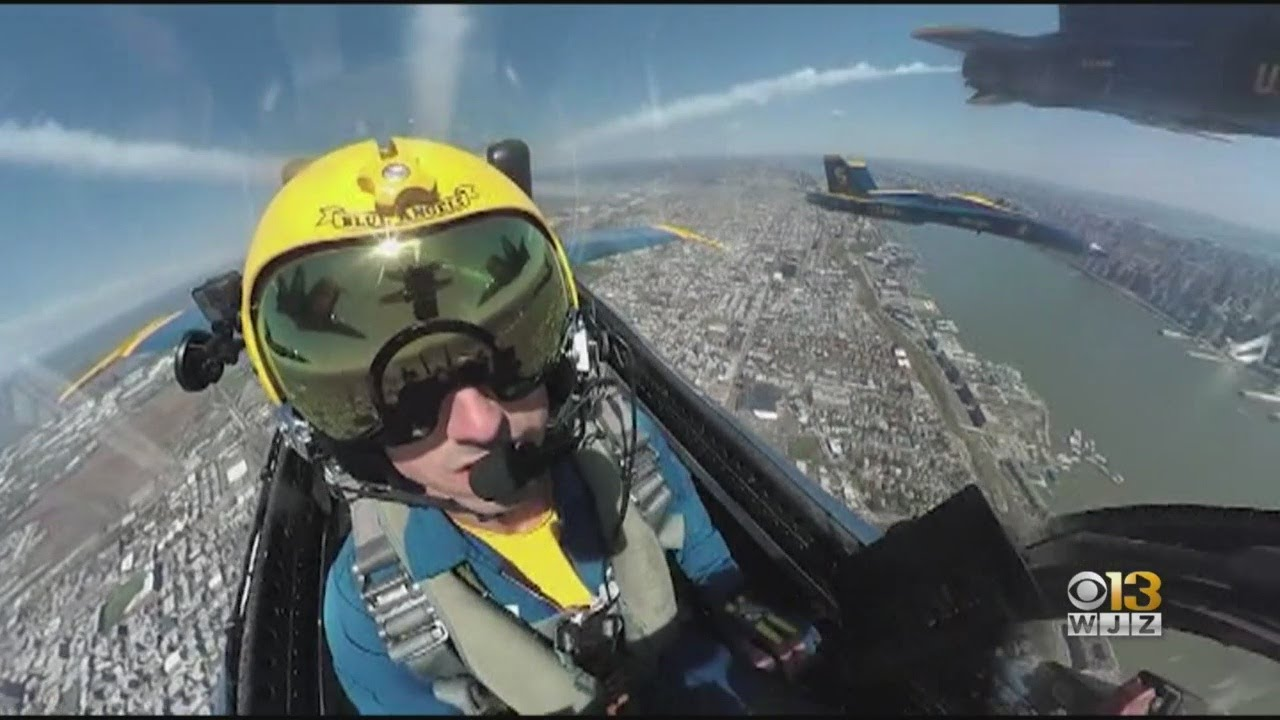 Blue Angels, Thunderbirds Fly Over Baltimore