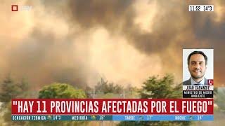 Incendios en Córdoba y San Luis: habla Juan Cabandié (Ministro de Medio Ambiente)