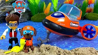 UNBOXING PAW PATROL ZUMA BATH ADVENTURE WITH ZUMA WALLY THE WALRUS AND THE HOVERCRAFT & RESCUE STORY