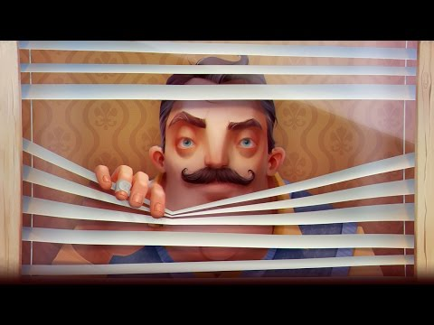 HES ALWAYS WATCHING....LITERALLY!! - Hello Neighbor Part 1