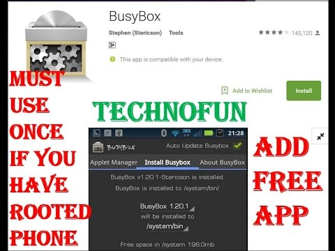how to use busybox android youtube