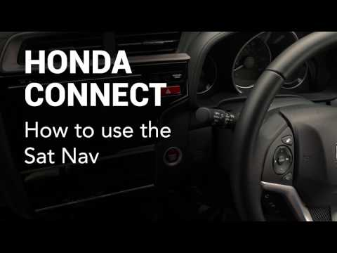 Honda Connect: How to use the satellite navigation system